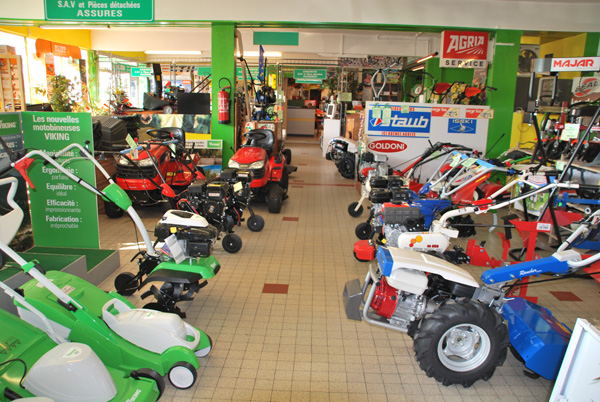 Réparation et vente de tondeuses, motoculteurs, tronçonneuses, matériel d'entretien paysager